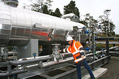 James inspects the low temperature separator