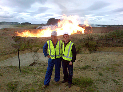 CEO Garth Johnson and Lead Engineer Jack Doyle