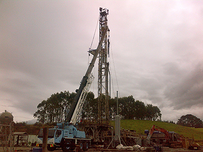 Ensign Rig set up to drill Cheal B7