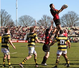 Ash Parker takes the ball from a lineout for Canterbury, in Saturday's ITM Cup drubbing.