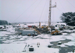 Snow at the Production Facility